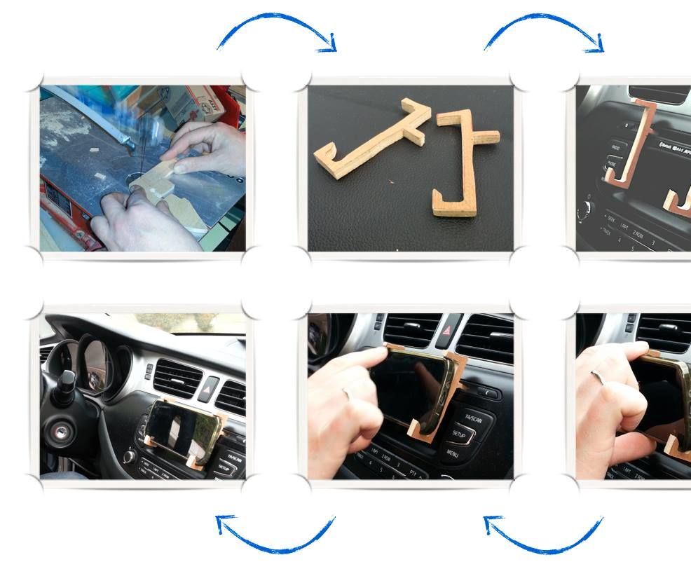 Car Cd-player As a Smartphone Holder (quick N Dirty)