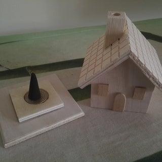 German Incense Smoker - Cottage