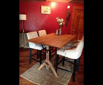 Restoring a Vintage Drafting Table to Repurpose As a Dining Table