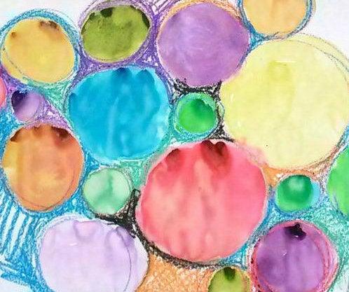 No More Tears Watercolor: Crayon Resist
