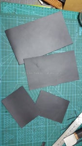 Cut All Leather Pieces Use Acrylic Pattern.