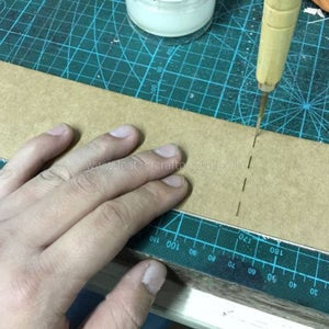 Make Mark From Pattern on Flesh Side Use Awl.