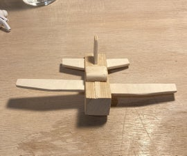 Simple Wooden Airplane for Beginners