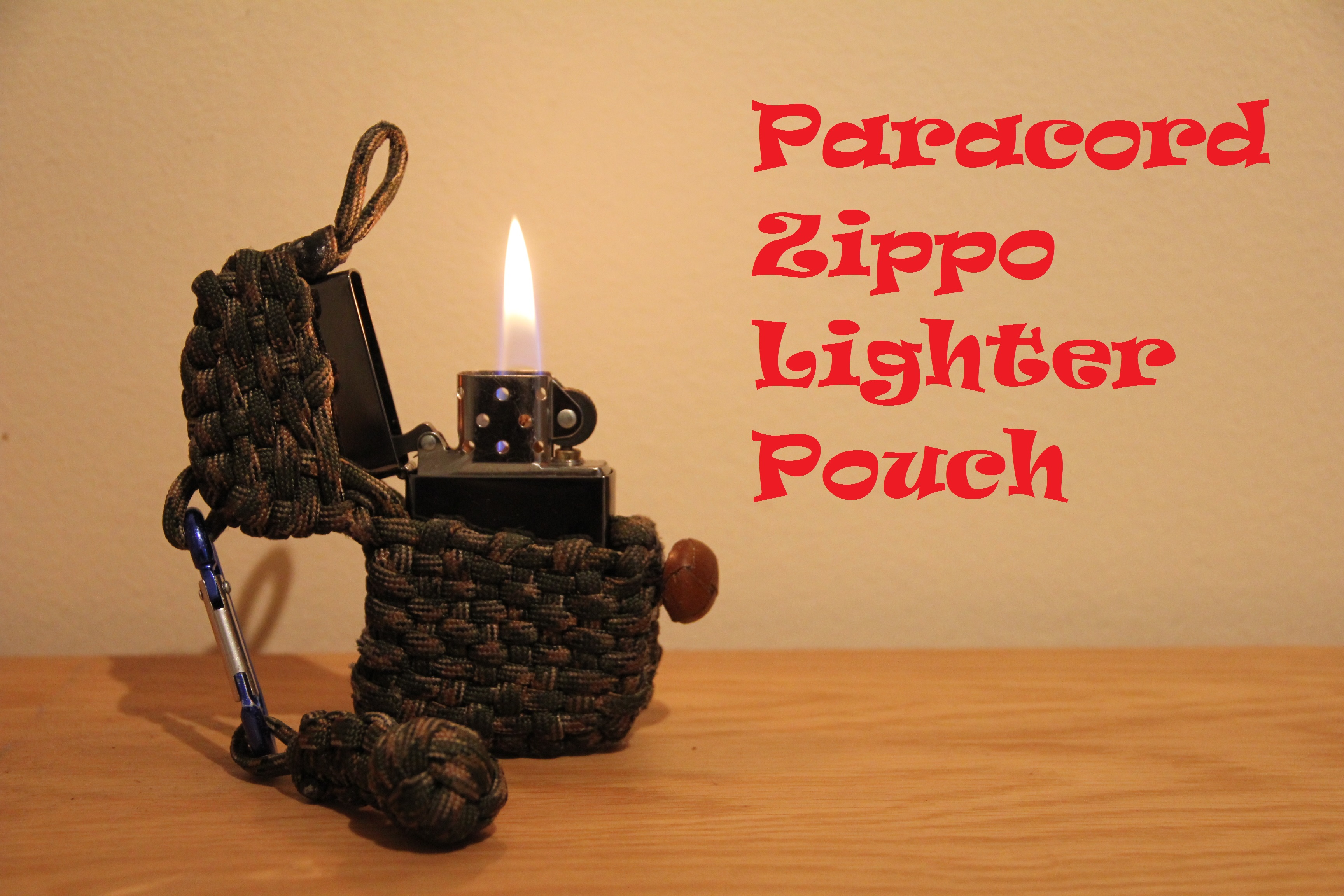 Paracord Zippo Lighter Pouch