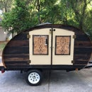 Reclaimed Wood Micro Teardrop Trailer