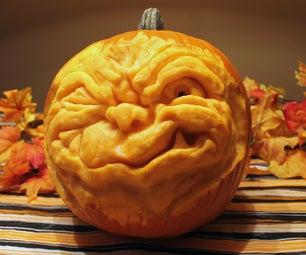 How to Sculpt a Goblin Face Into a Pumpkin