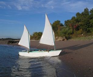 Build a Short Dragon (16 Foot 3-Board Outrigger Sailing Canoe)