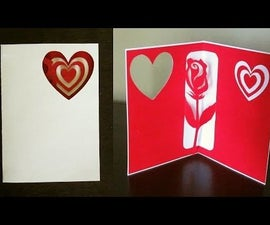 Rose Pop Up Card