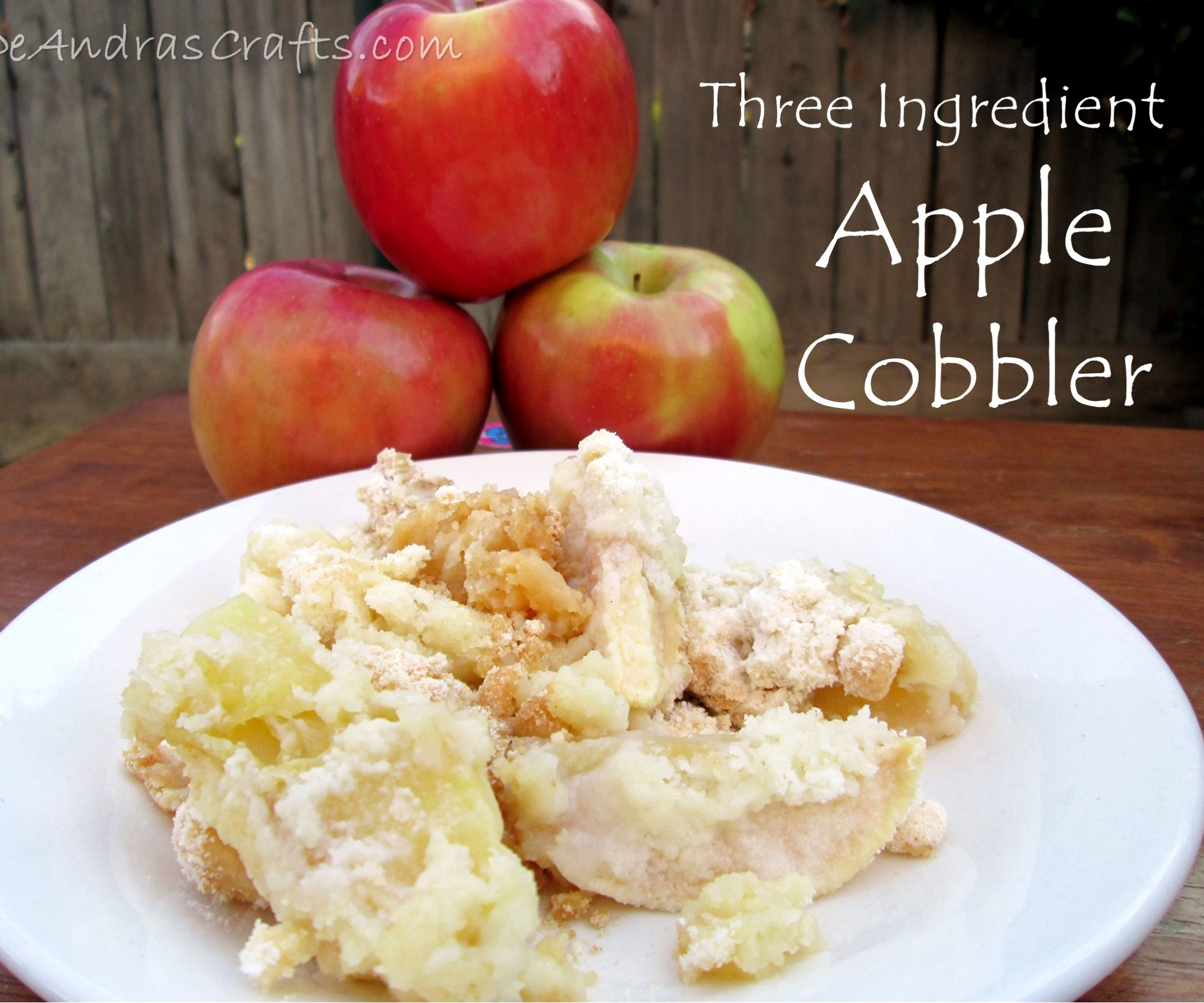 Three-Ingredient Apple Cobbler