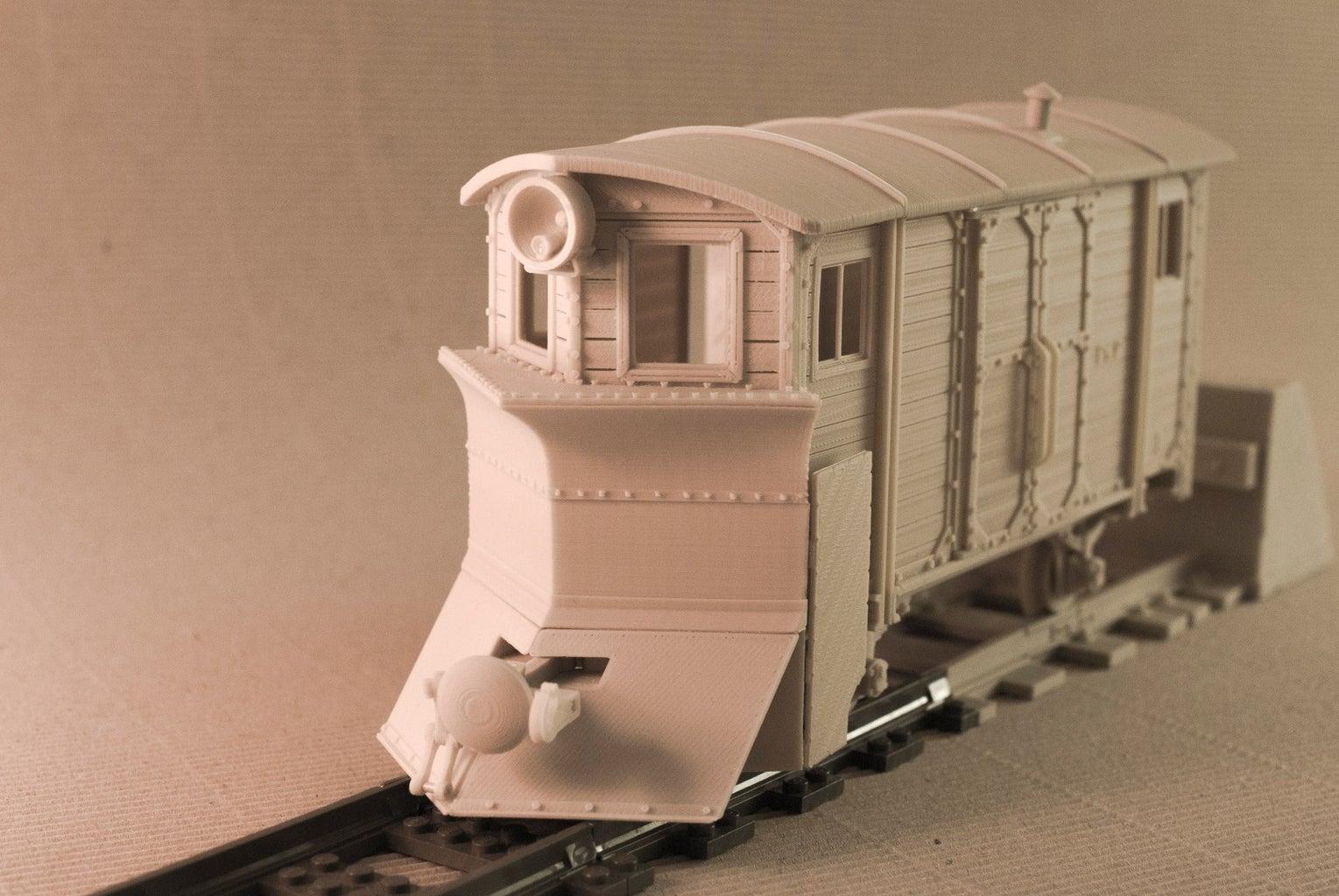 Model Railroad Collection - Radio Controlled (garden Railway?) - 100% 3D-printable, LEGO Connectable