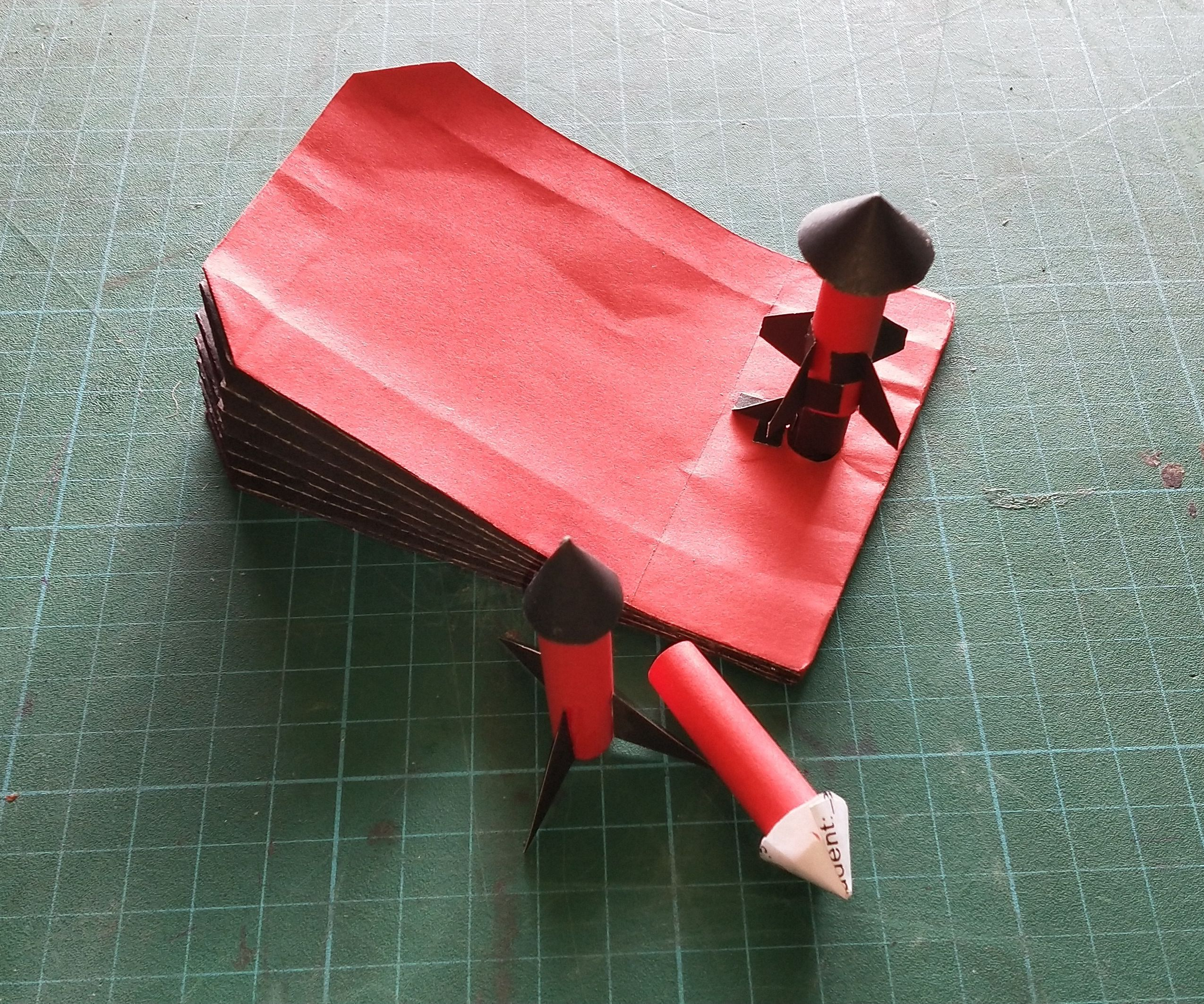 Paper-craft Rocket and Rocket Launcher