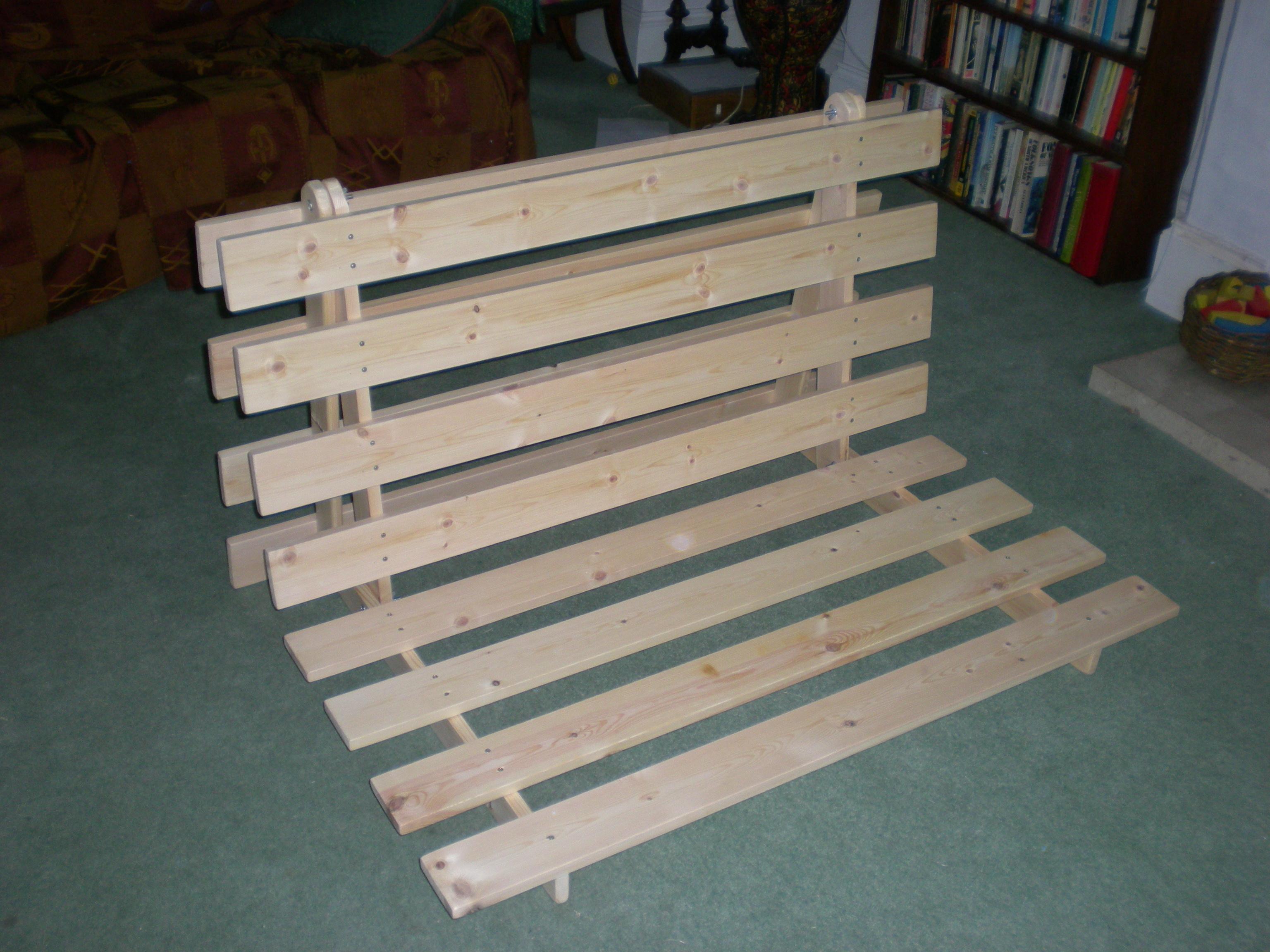 Fold Out Sofa Futon Bed Frame