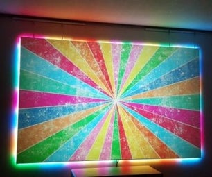 DIY 130 Inch Edgeless Screen With Ambilight by Teensy 3.2+WS2801
