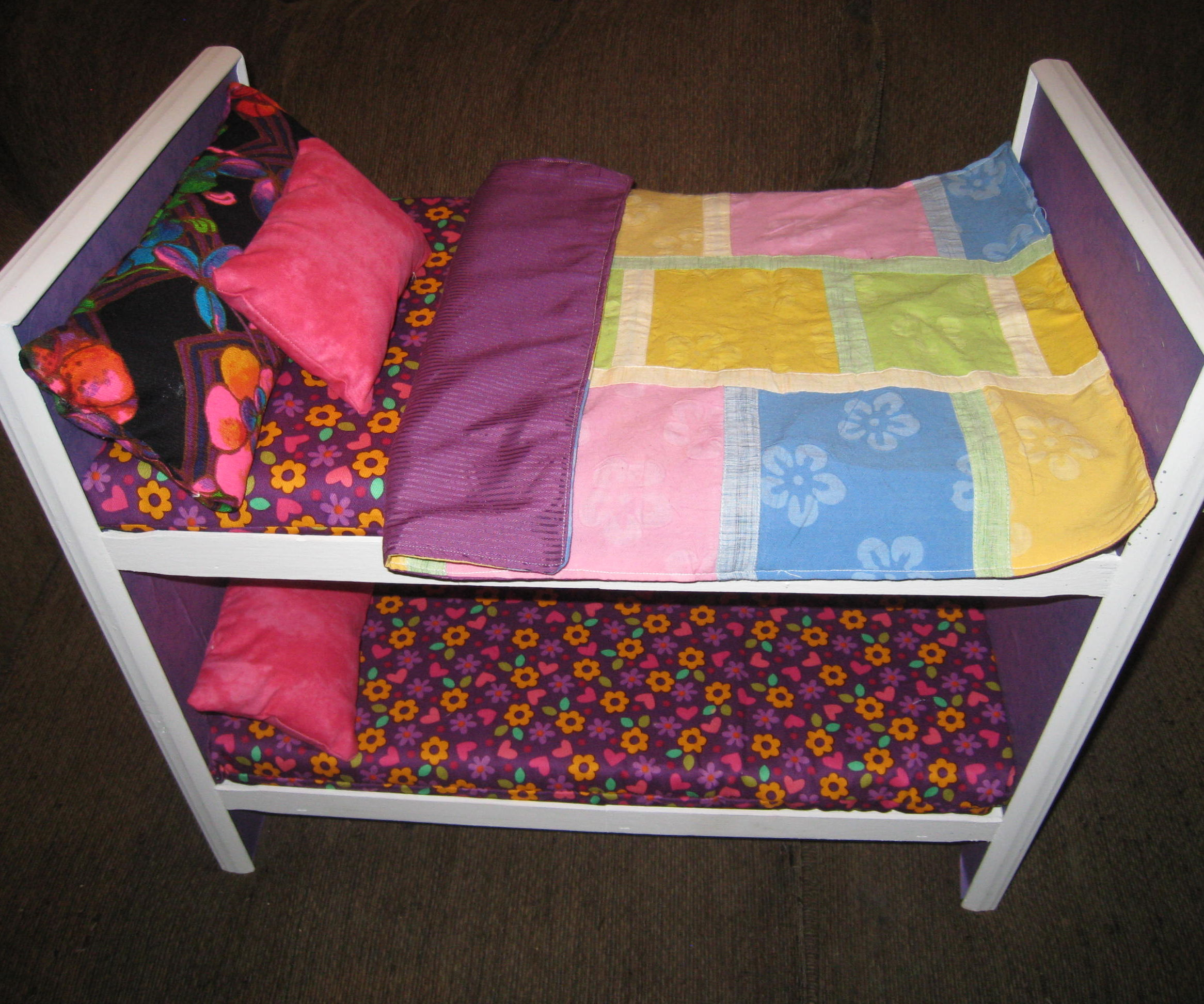 Scrap Wood Bunk Bed for American Girl OR 18 inch doll