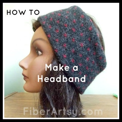 How to Make a Headband, Ear Warmer From an Old Sweater