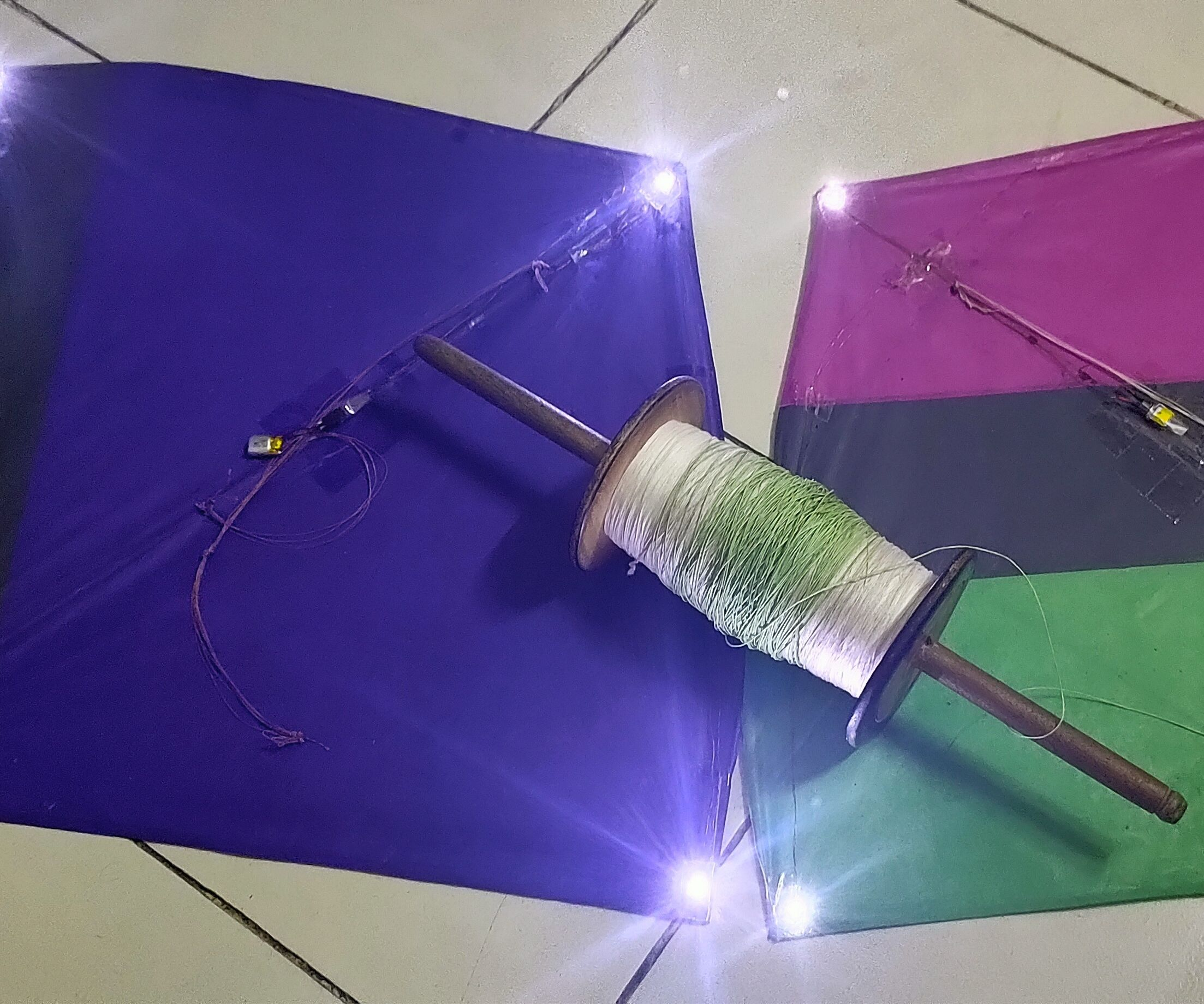 Make an LED Kite Out of Recycled Parts!