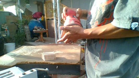 Sanding the Coasters