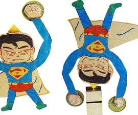 Make MAGIC SUPERMAN Balance From Cardboard