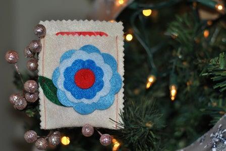 Felt Flower Gift Card Holder