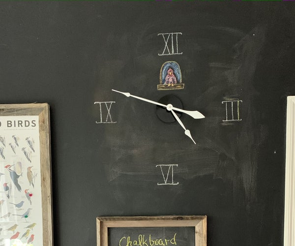 Chalkboard Wall Clock
