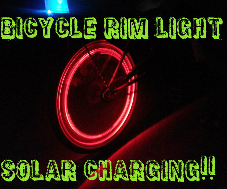 Rim Light for Bicycle --- with Solar charging
