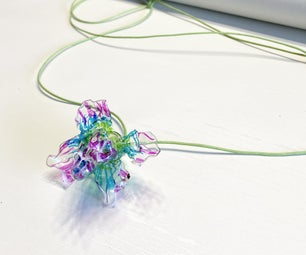 Plastic Egg Container Flower Necklace