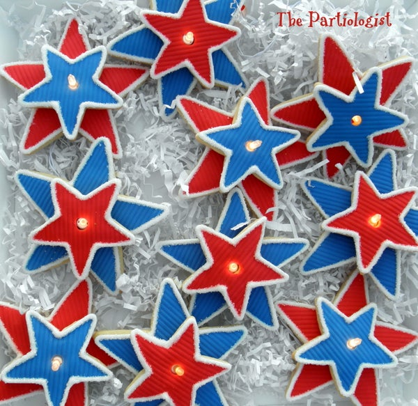 Lighted Star Cookies!