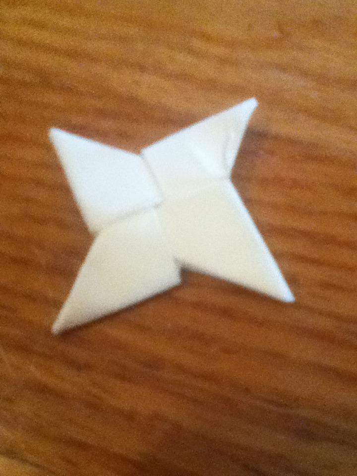 Sticky Note Ninja Star