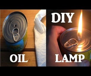 Emergency Tuna Tin Oil Lamp