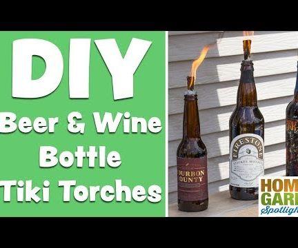DIY Beer & Wine Tiki Torches
