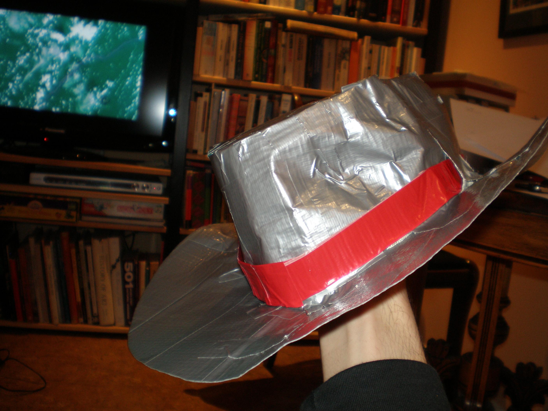 duct tape cowboy hat