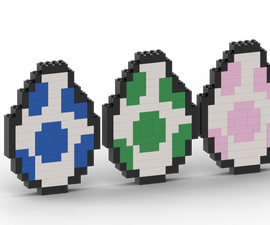 How to Make Yoshi Eggs From Super Mario With Lego Bricks