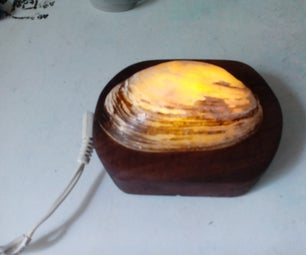 Simple Seashell LED Night Light or Mood Lamp (w/LED Driver Circuit)