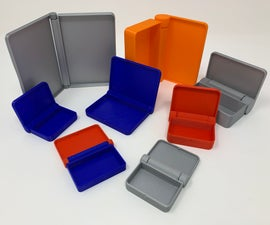 """Designing a Parametric Parametric """"Print in Place"""" Hinged Container"""