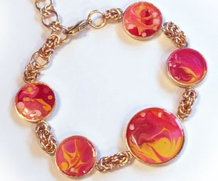 Gorgeous Hand Painted Bracelet