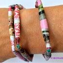 DIY Paper Bead Bracelets (Great Birthday Party Craft!)