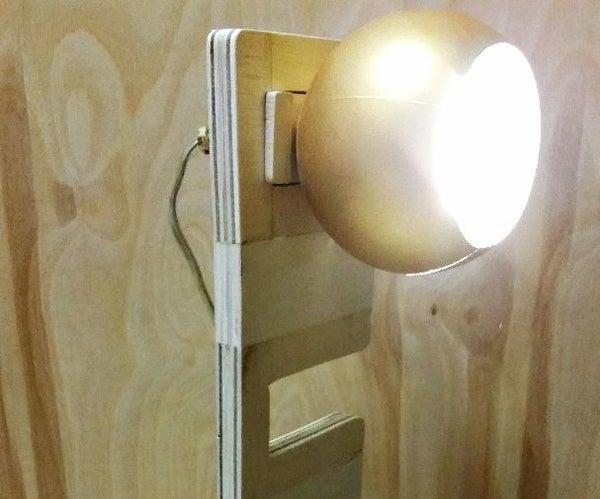Adjustable Wooden Lamp