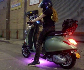 How to Install LEDs Under a Scooter (with Bluetooth)