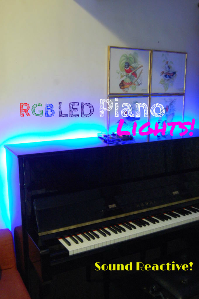 Sound Reactive RGB LED Piano Lights!