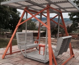 Dual Bench Canopy Glider Swing