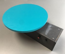 Portable Motorized Turntable (from an Angle Grinder)