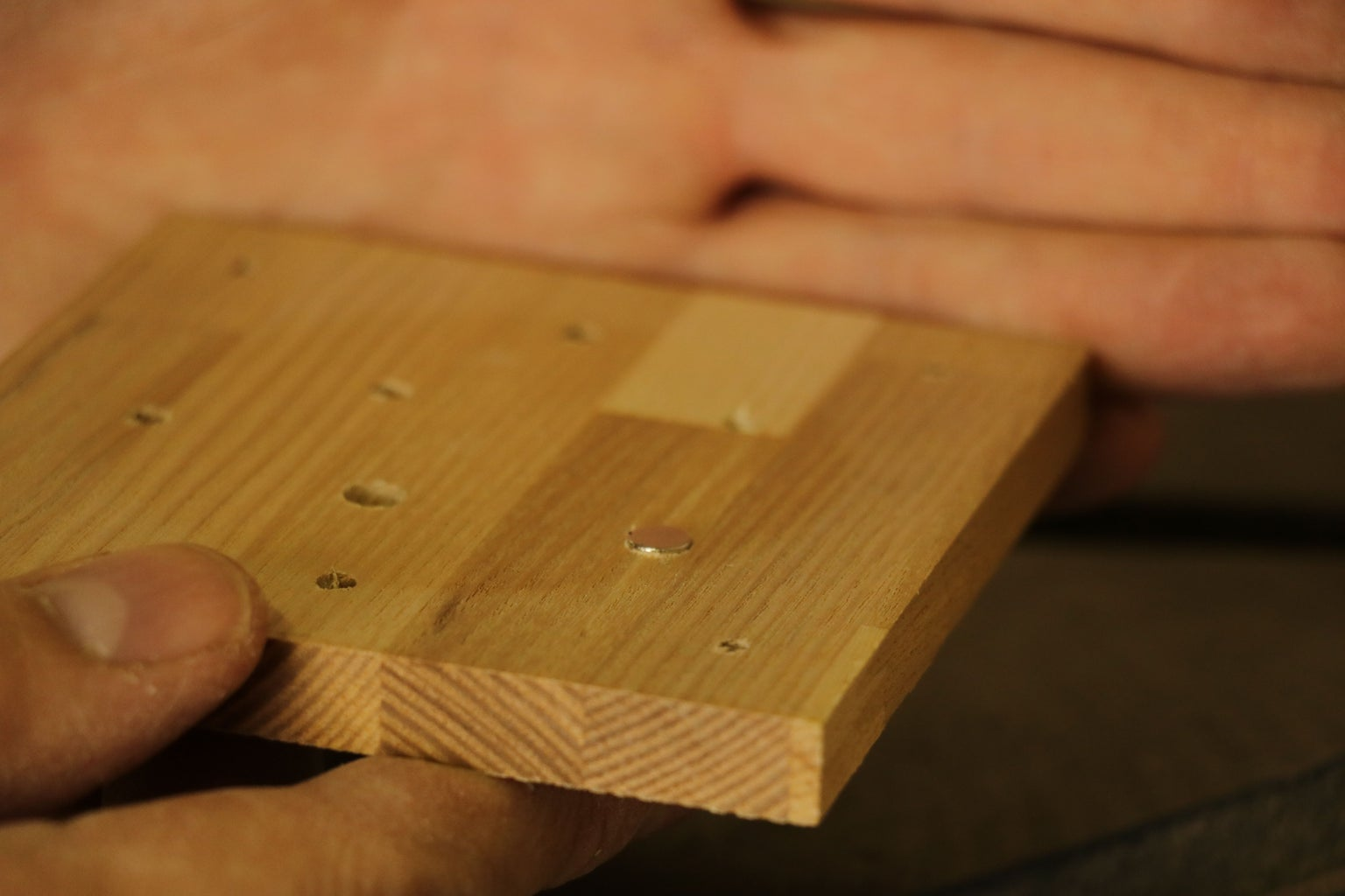 45° Side and Big Hole Milling With Stencil