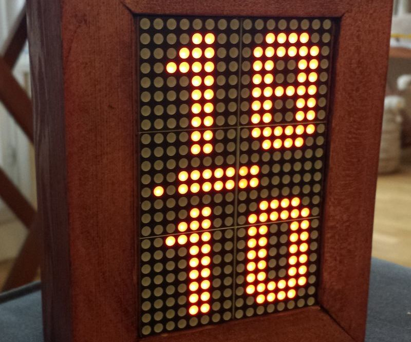 Led Matrix Arduino Clock