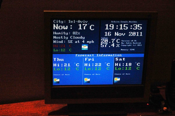 Google Weather on Graphical Display With Arduino