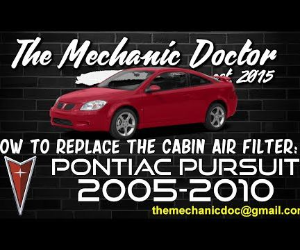 How to Replace the Cabin Air Filter : Pontiac Pursuit 2005-2010.