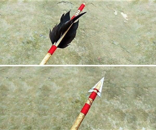 Handmade Wooden Arrow
