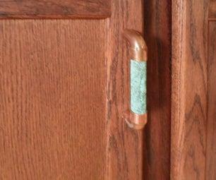 Simple Custom Copper Drawer and Door Pulls