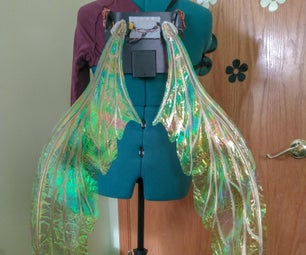 Motion Activated Cosplay Wings Using Circuit Playground Express - Part 2