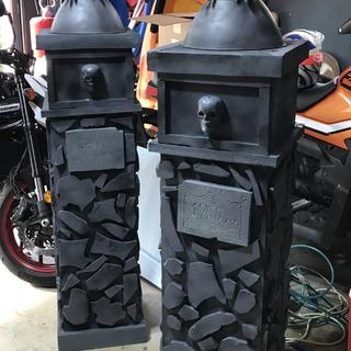 Stone Gargoyle Entrance Columns