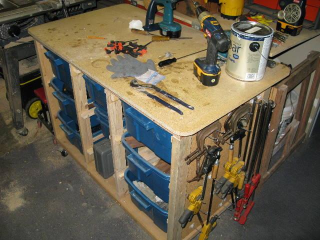 Multi-Use Work Shop StorageTable